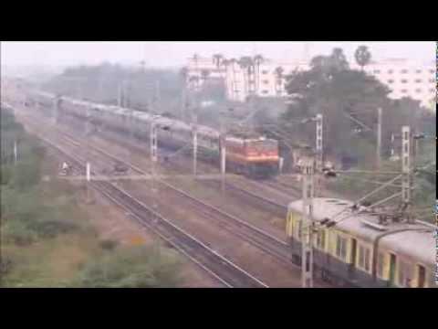 WAP4 powered Mangalore Chennai superfast express