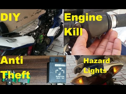 How To Remove A Car Battery >> DIY!!..Installing Anti Theft, Engine Kill & Hazard Light ...