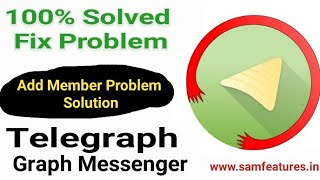 Telegraph Free Member Add Problem Solution ⚠️ 100% Working Trick | Jay Ghunawat screenshot 4