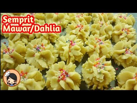 Resep Kue Semprit Mawar Dahlia Renyah Lembut Lumer Dimulut Youtube