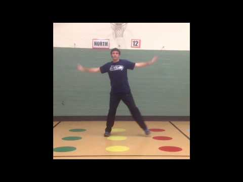 African dance lesson with music
