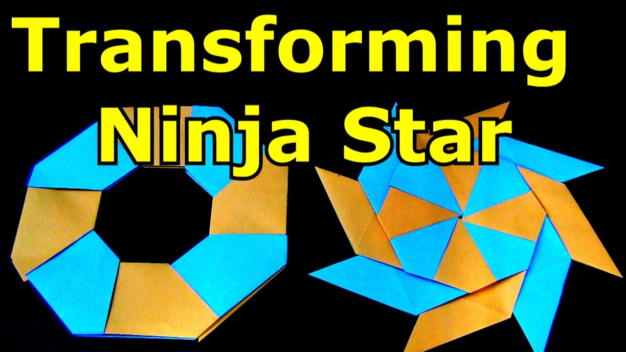 How to Make a Paper Transforming Ninja Star - Origami ... - photo#8