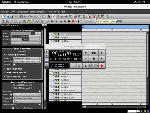 Composing Music for Uzebox using Rosegarden