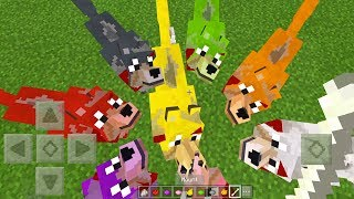 How to DYE WOLVES in Minecraft Tutorial! (Pocket Edition, Xbox - Mutant Wolves Addon)