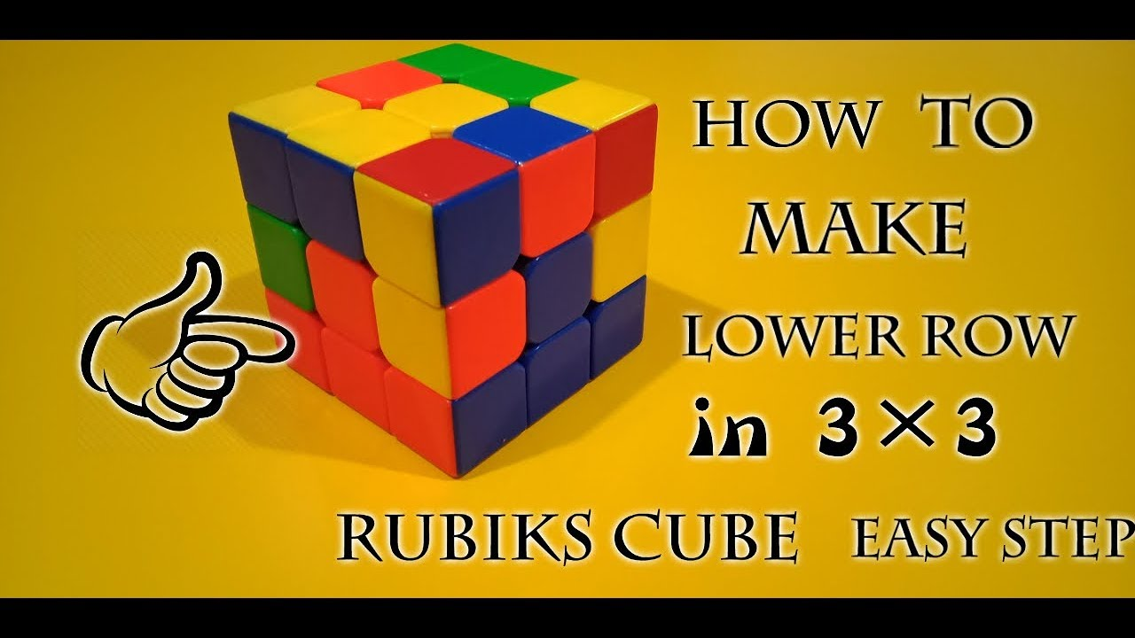 How to make lower row in 3×3 rubiks cube (Hindi) very easy step