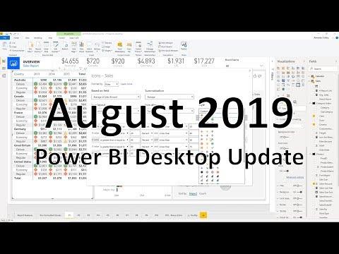 Power BI Desktop August 2019 Feature Summary | Blog do