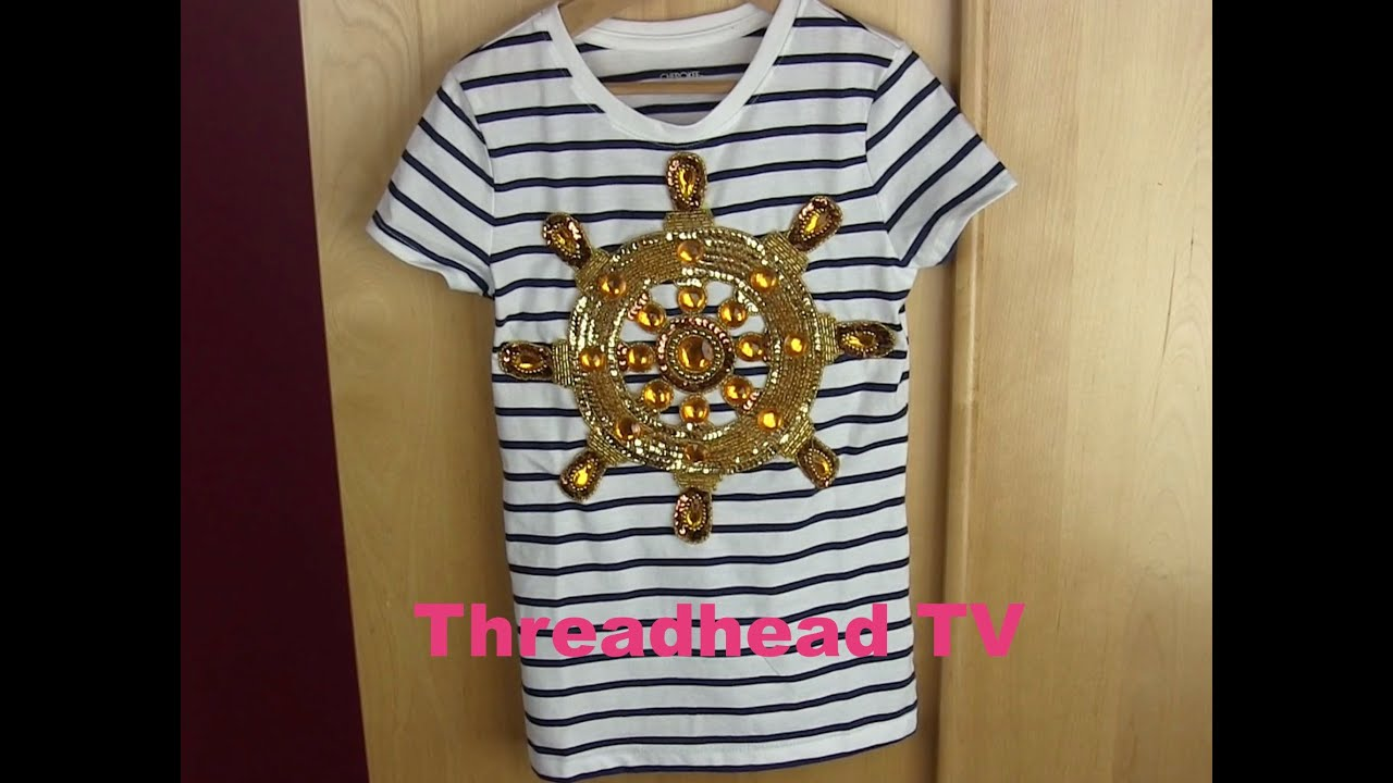 Diy nautical love no itch applique girl t youtube
