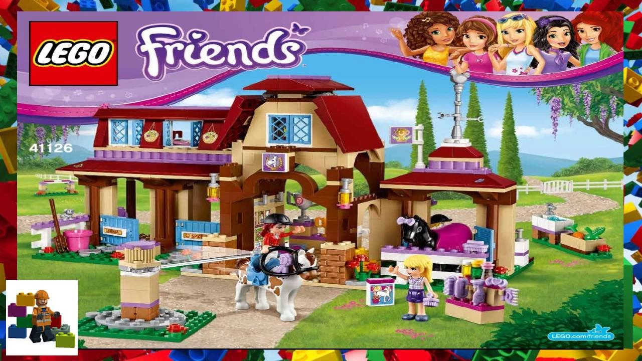 Lego Instructions Lego Friends 41126 Heartlake Riding Club Book