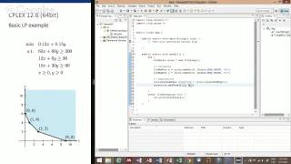 CPLEX & Java 1. Setting up Eclipse with CPLEX and solve a small LP