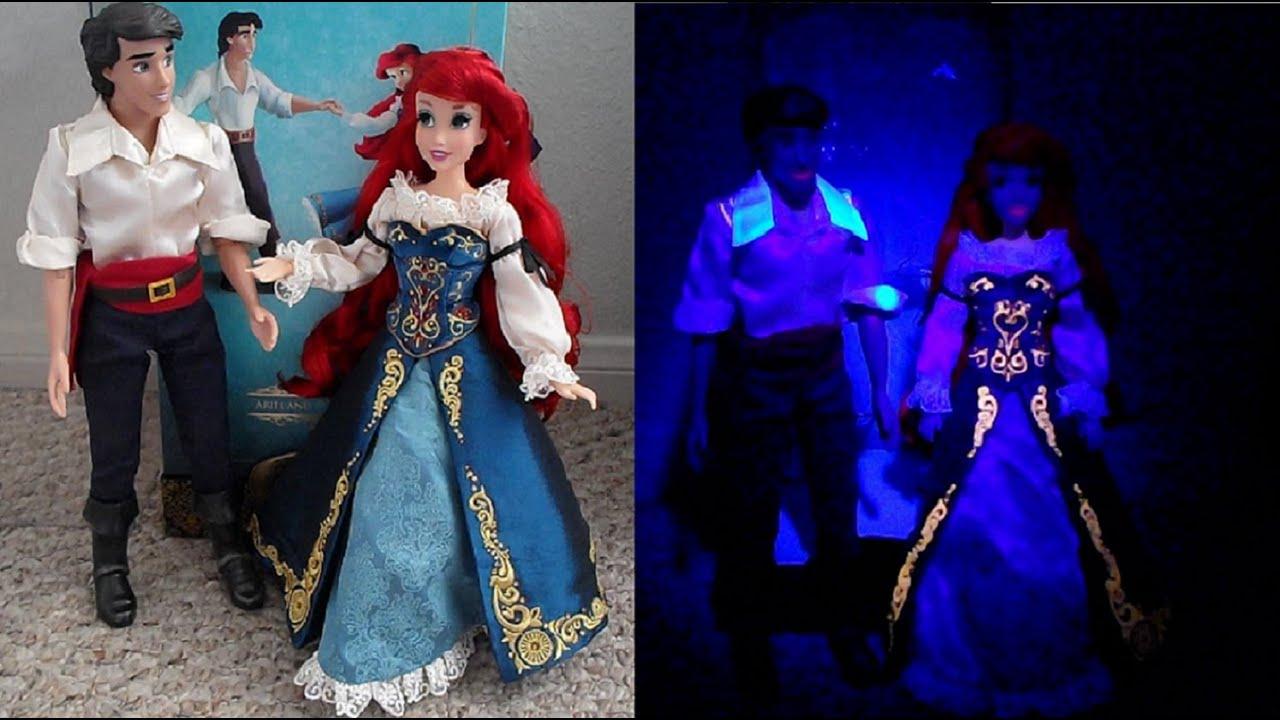 Disney Designer Fairytale Ariel Eric Dolls Review Day Night