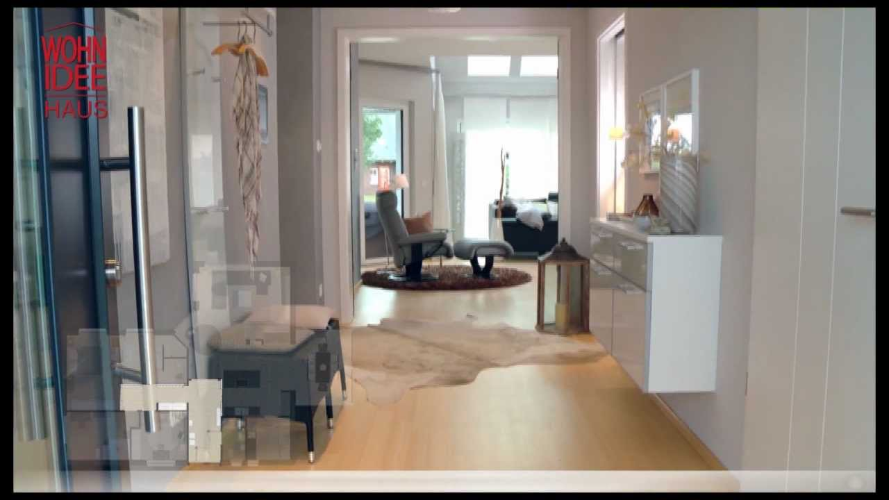 wohnidee haus 2011 1 9 flur und wohnbereich youtube. Black Bedroom Furniture Sets. Home Design Ideas