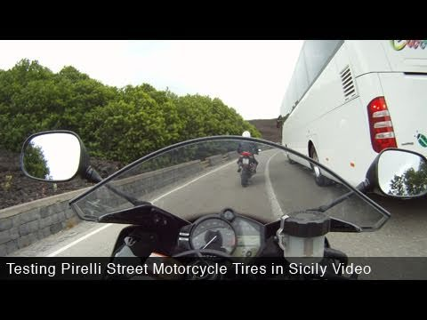 MotoUSA Pirelli Motorcycle Tire Test:  Streets in Sicily