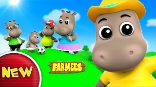 Hippo Finger Family | Nursery Rhymes | Kids Songs | Videos For Babies by Farmees
