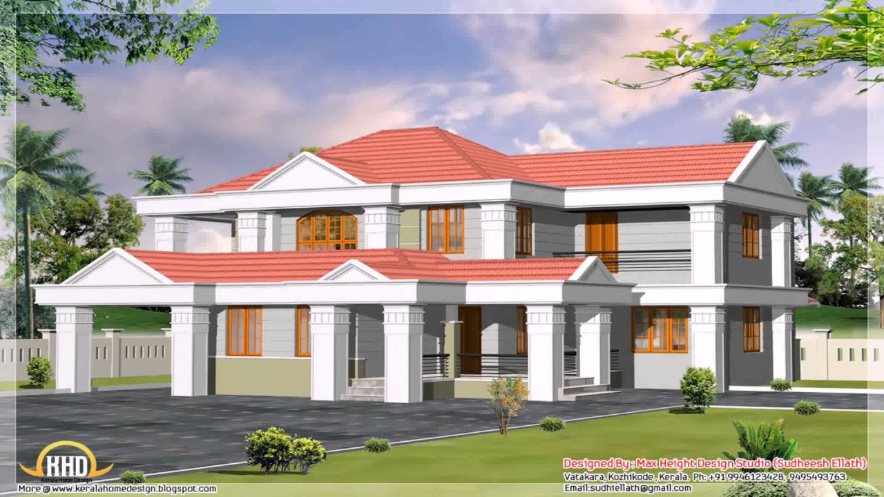 Slant Roof Style House Plans See Description See