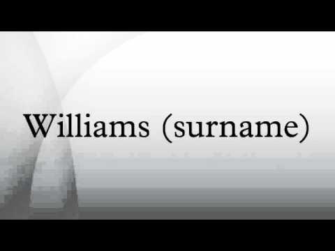 Williams (surname)