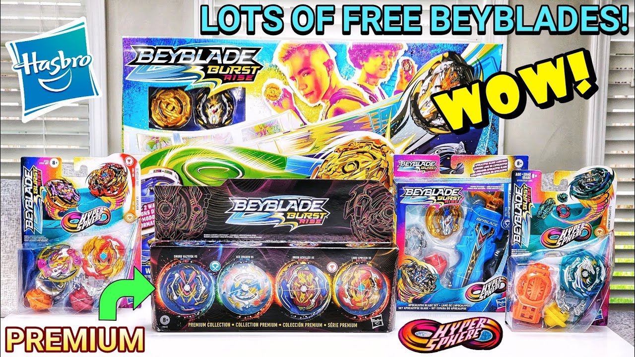 Lots of Free BEYBLADES from Hasbro! Beyblade Burst Rise HyperSphere Premium Collection plus More!