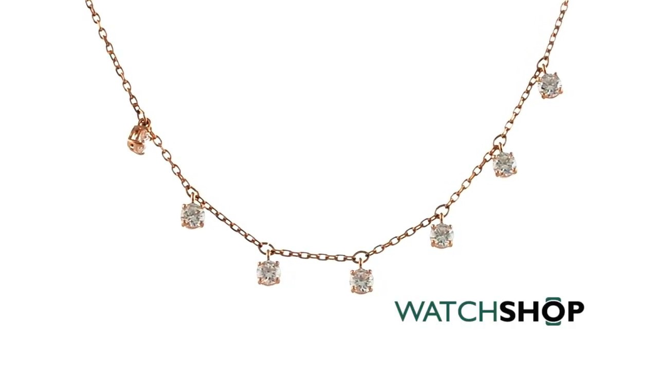 abd941de28 Ladies Swarovski Rose Gold Plated Attract Choker Necklace (5380061 ...