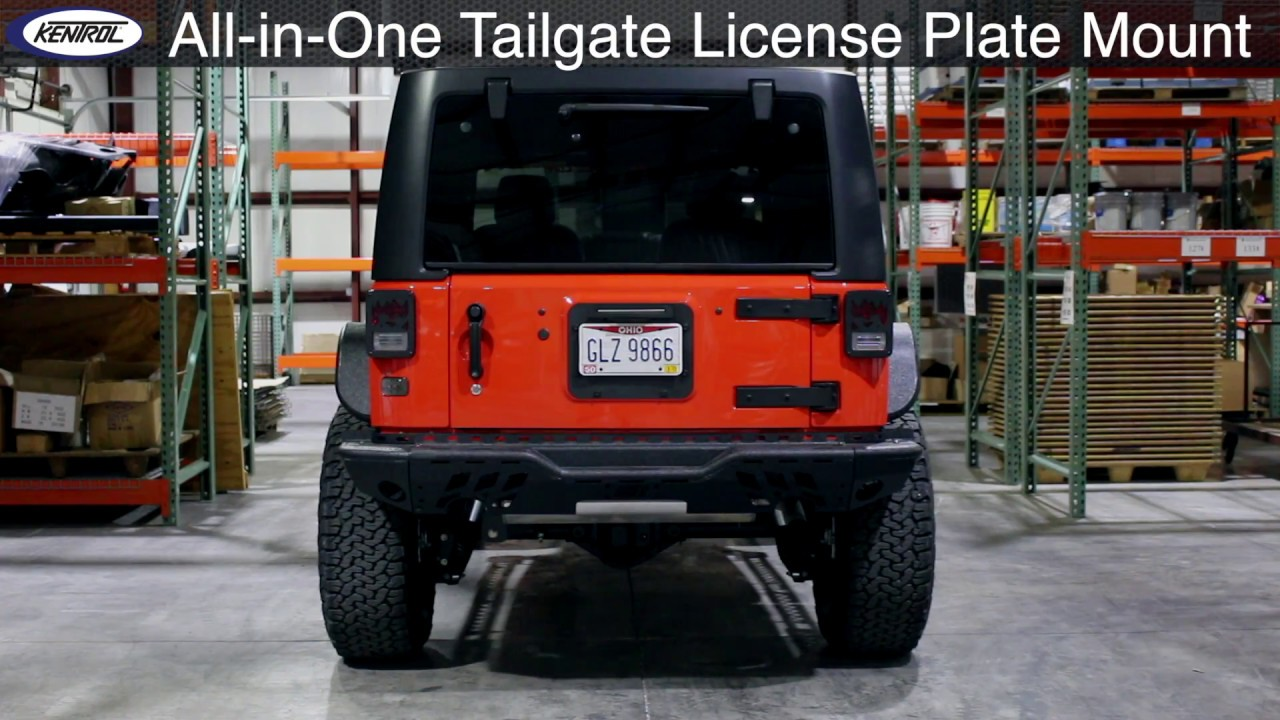Kentrol Backside Tailgate License Plate Mount With Leds