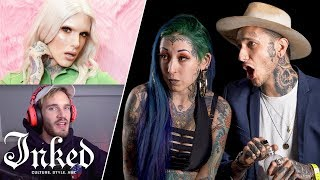 Tattoo Artists React to YouTuber\'s Tattoos | Tattoo Artists Answer