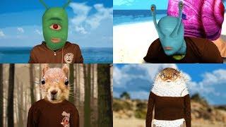 Human Spongebob Characters Transformations (Plankton/Gary/Sandy/Mrs. Puff)