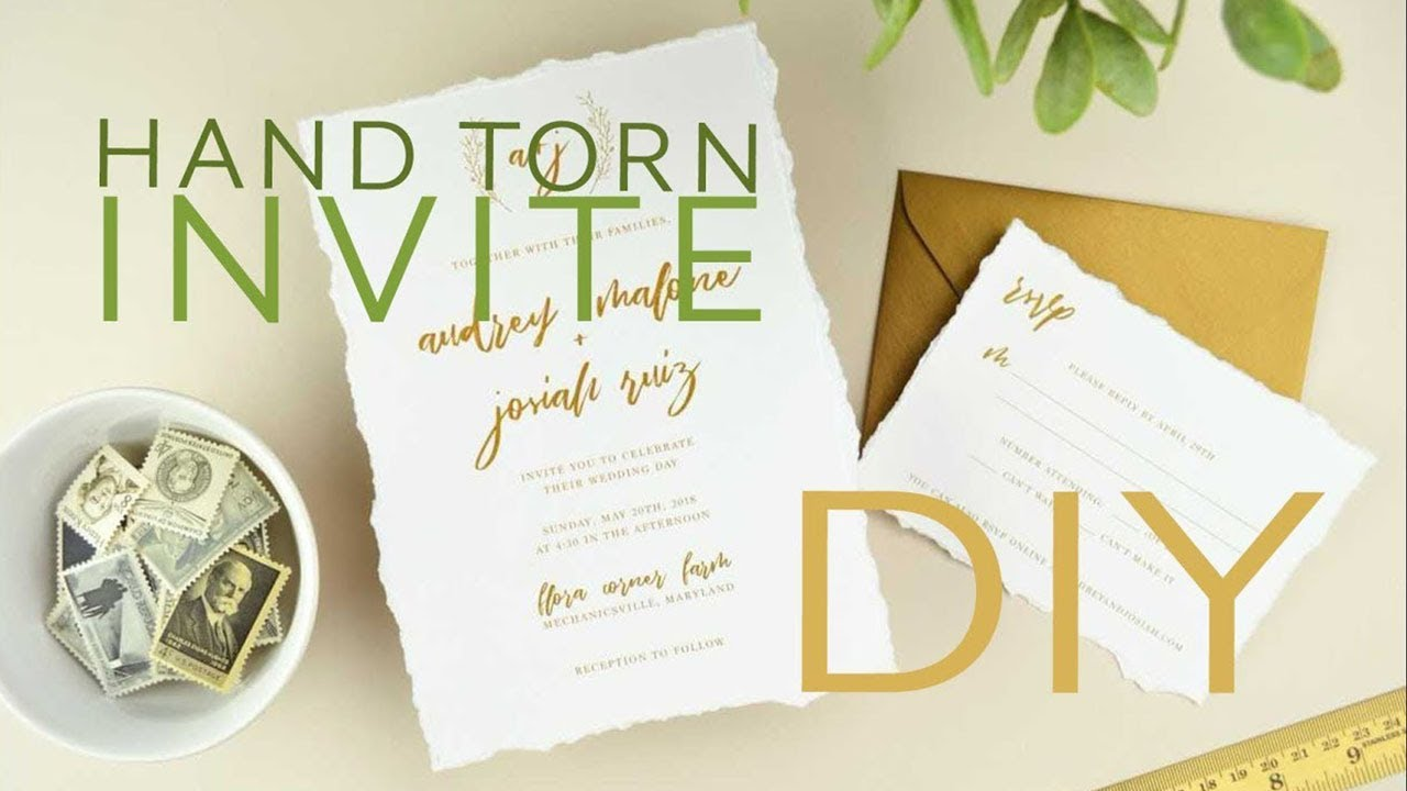 How to DIY Wedding Invitations with Hand Torn, Deckled Edge Paper ...