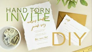 How to DIY Wedding Invitations with Hand Torn, Deckled Edge Paper