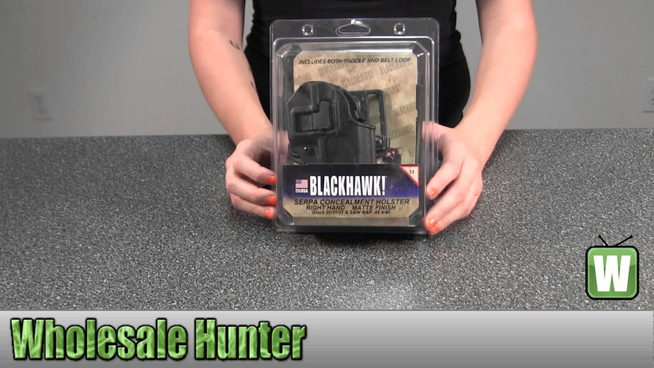 BlackHawk Products Serpa CF Belt & Paddle Holster Glock 20/21 S&W M&P Right  Hand 410513BK-R Unboxing