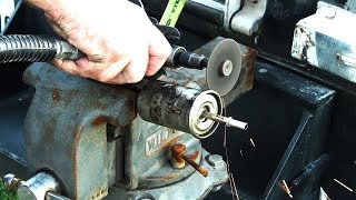 Cutting Open A Nasty Fuel Filter