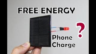 Güneş Paneli İle Telefonu Sınırsız Şarj Etmek | FREE ENERGY