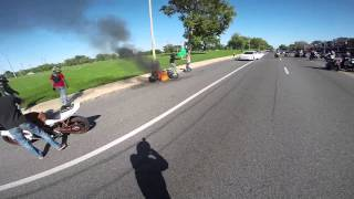 2014 Ride of the Century bike fire