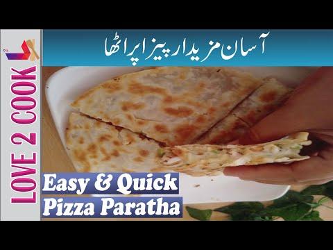 Qucik Pizza Paratha-Easy Iftar Recipe 2020-Paratha Recipes In Urdu