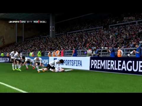 Wayne Rooney chipped goal Vs West Ham United F.C. #FIFA14
