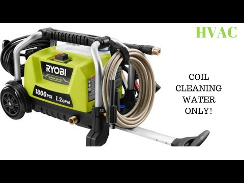 HVAC: COIL CLEANING WITH PRESSURE WASHER