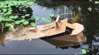 Cardboard cruise ship sinks