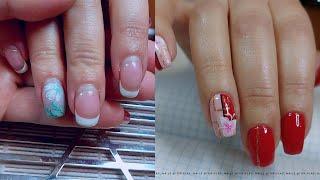 Аппаратный маникюр Красные ногти Весенний дизайн ногтей