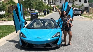 SURPRISING GIRLFRIEND WITH DREAM CAR THE MCLAREN!!! (VERY EMOTIONAL)