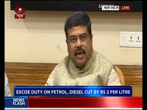 Petroleum Minister briefs media over cutting Basic Excise Duty rate on Petrol & Diesel