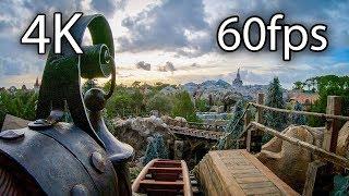 Seven Dwarfs Mine Train 4K 60FPS Cloudy sky