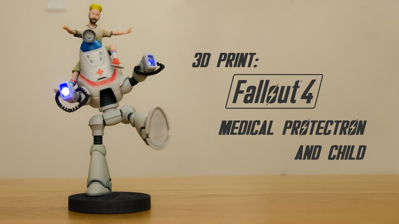 3d print fallout 4 medical protectron and child youtube