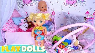 Baby Born & Baby Alive Play with Doll Toys in the Nursery Bedroom!