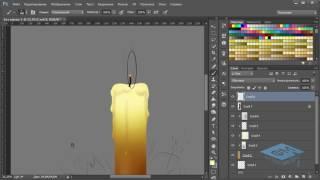 Рисуем композицию со свечой к старому Новому году в Фотошоп #1