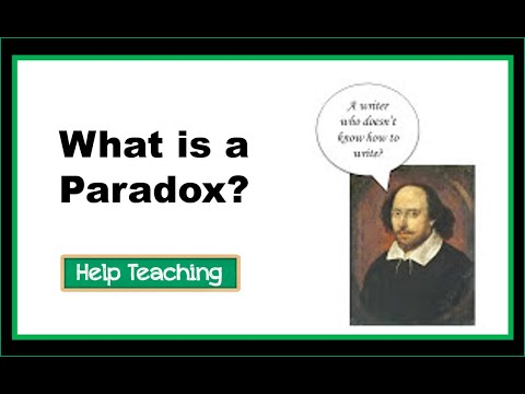 Reading Lesson: What is a Paradox?