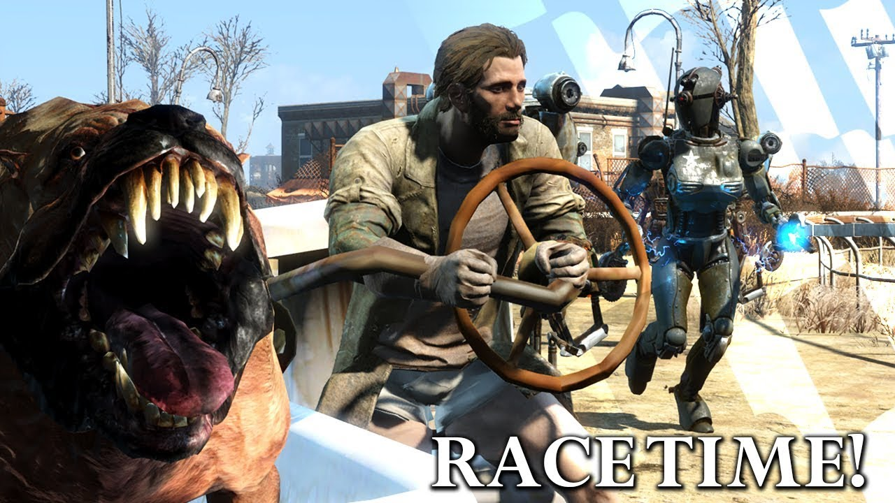 Fallout 4 Mods: Racin & Riding Vehicles!