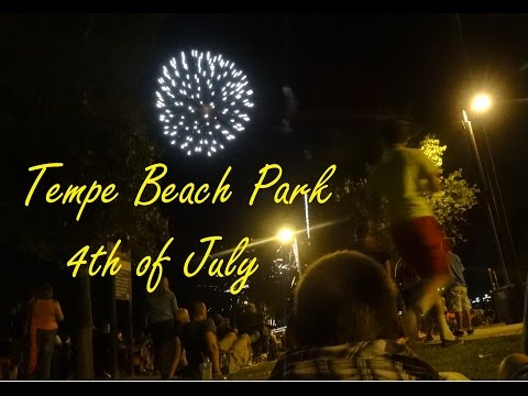 The AZ Explorer Family Visits Tempe Beach Park 4th of July