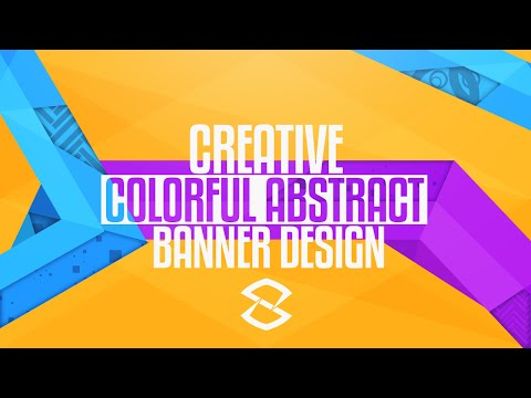 Photoshop Tutorial: Creative Colorful Abstract Banner Design