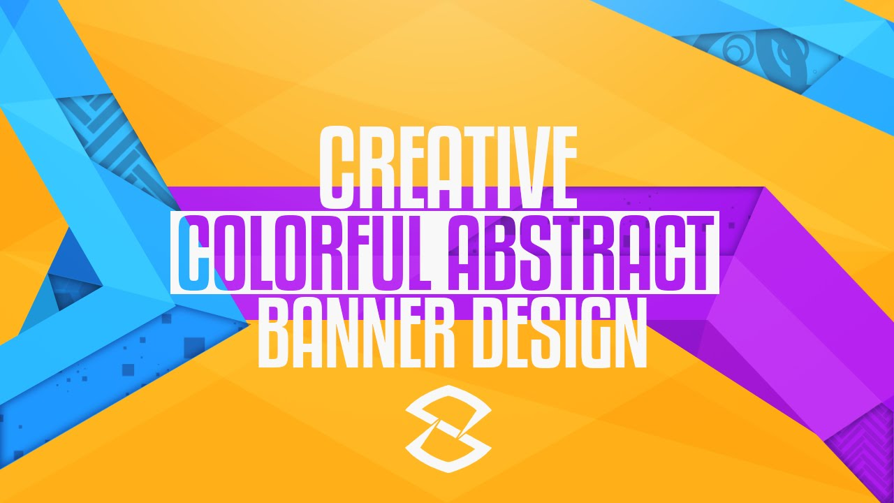 photoshop tutorial creative colorful abstract banner design youtube