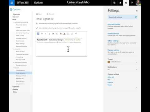 How do you change your email signature in outlook 365