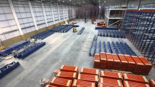 Warehouse storage racking installation video