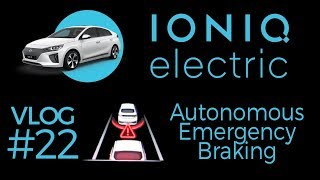 Ioniq EV - AEB prevented an accident - autonomous emergency braking