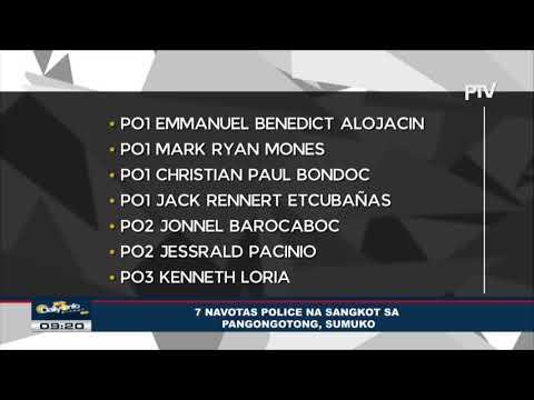 7 Navotas police na sangkot sa pangongotong,sumuko